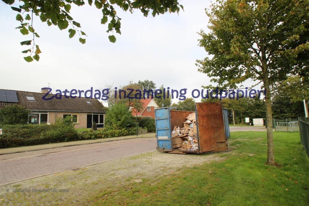 Oudpapier container