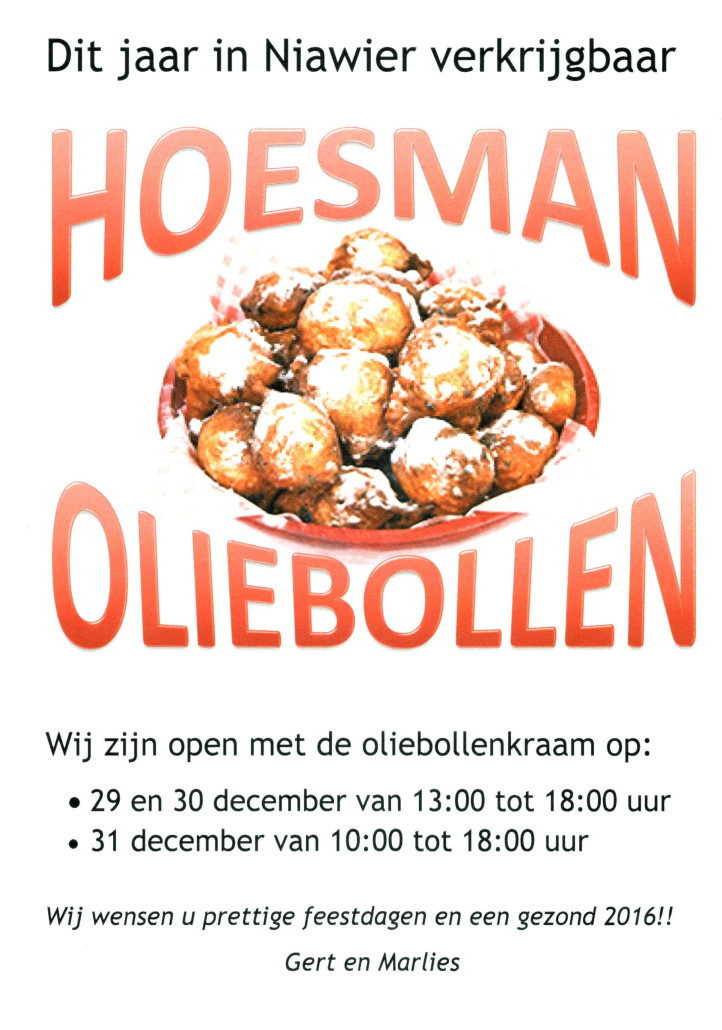 Oliebollen Hoesman