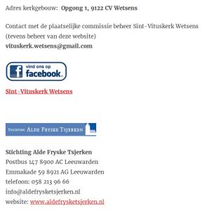 Contact Vitus Kerk Wetsens