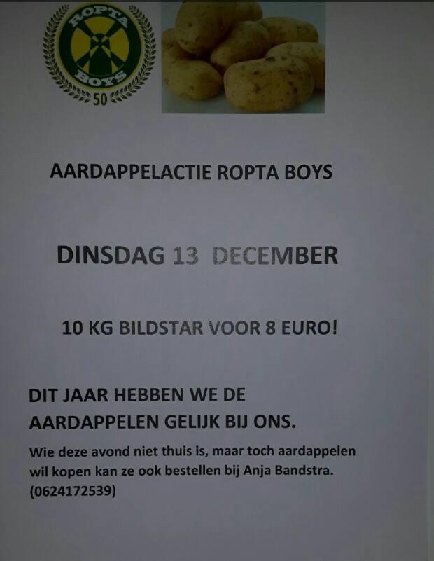 Ropta boys aardappelen verkoop 2016