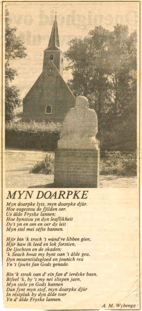 17- Knipsel Gedicht myn doarpke