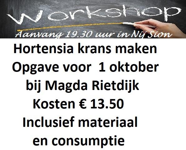 Workshop hortensiakrans maken