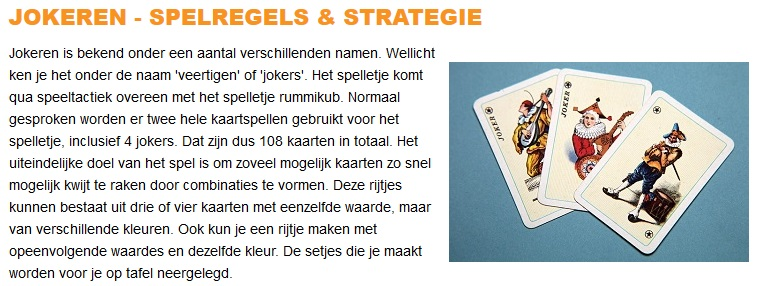 Jokeren_Spelregels_Strategie