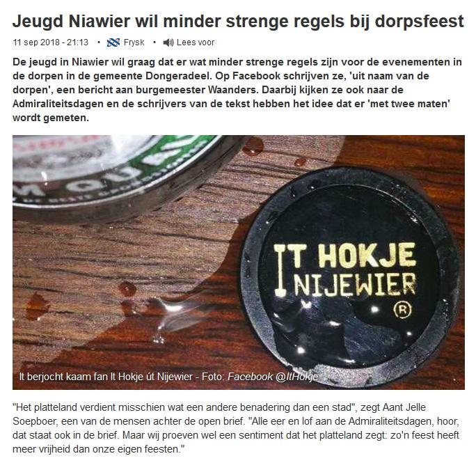 2018_09_12_08_39_43_Jeugd_Niawier_wil_minder_strenge_regels_bij_dorpsfeest_Omrop_Fryslân