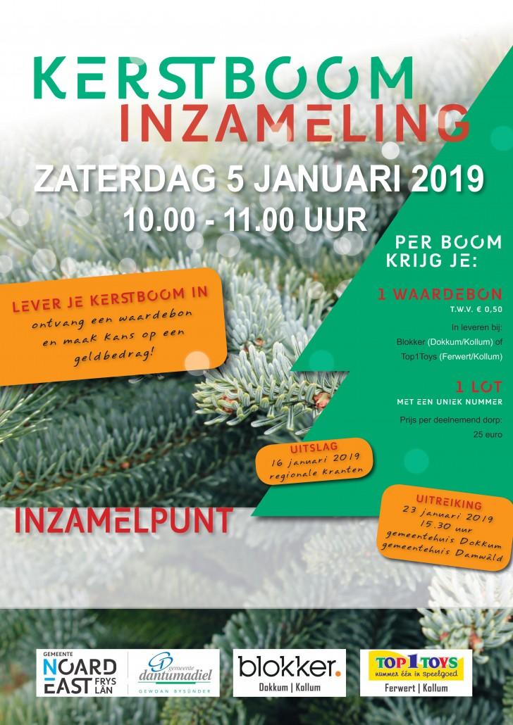 Kerstboom inzameling 2019